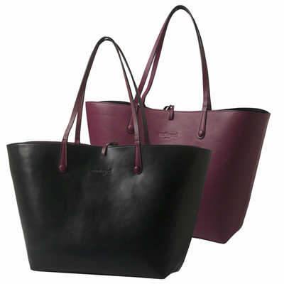 Cacharel Shopping Bag Tourbillon Reversible Bordeaux-noir CTS513_ORSO