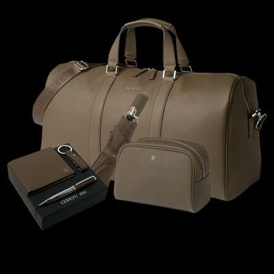 Cerruti 1881 Set Hamilton Taupe (cosmetic Bag, Travel Bag, Umbrella & Small Leather Goods) NPBCFS711X_ORSO
