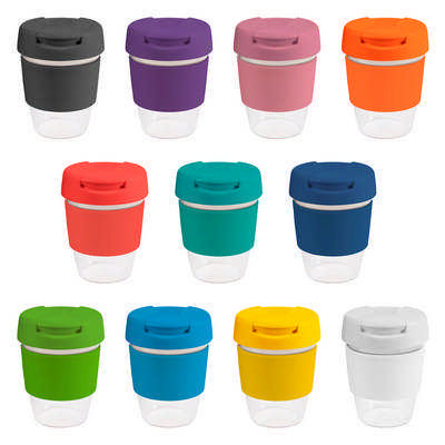 8oz235ml Clear Plastic Karma Kup Plastic Flip Lid G1955_ORSO