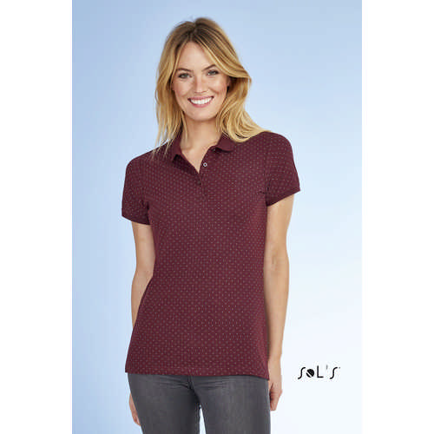 Brandy Womens - Polka-dot Polo Shirt - (printed with 4 colour(s)) S01707_ORSO_DEC