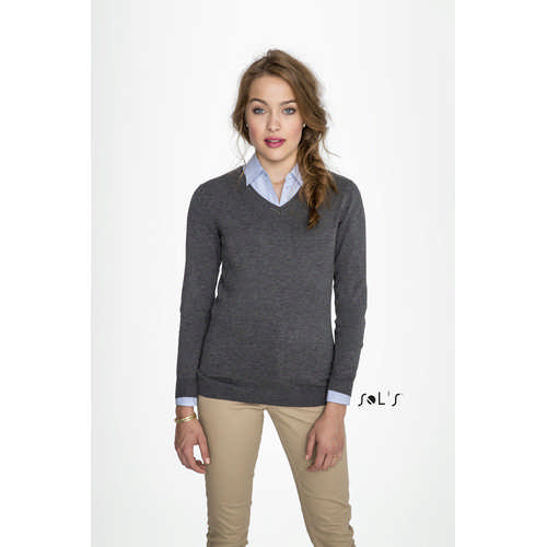 Glory Womens V-neck Sweater - (printed with 4 colour(s)) S01711_ORSO_DEC