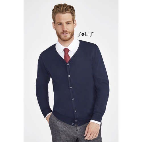 Griffith Mens V-neck Cardigan - (printed with 4 colour(s)) S01715_ORSO_DEC