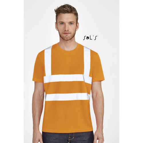 Mercure Pro T-shirt With High Visibility Strips - (printed with 4 colour(s)) S01721_ORSO_DEC