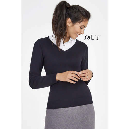 Galaxy Womens  V-neck Sweater - (printed with 4 colour(s)) S90010_ORSO_DEC
