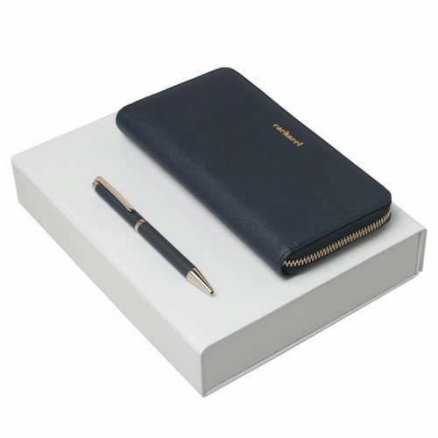 Cacharel Set Bagatelle Bleu (ballpoint Pen & Lady Purse) - (printed with 1 colour(s)) CPBL636N_ORSO_DEC