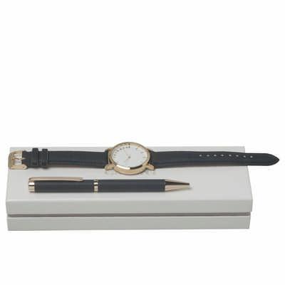 Cacharel Set Bagatelle Bleu (ballpoint Pen & Watch) - (printed with 1 colour(s)) CPBN636N_ORSO_DEC