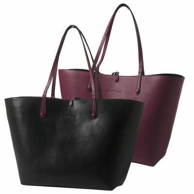 Cacharel Shopping Bag Tourbillon Reversible Bordeaux-noir CTS513_ORSO_DEC