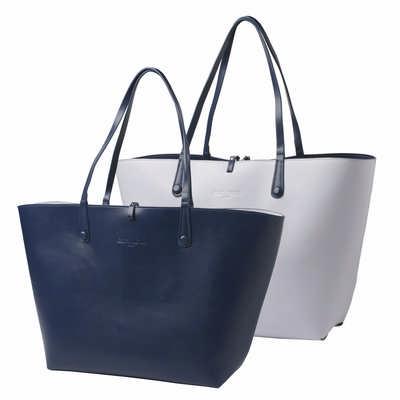 Cacharel Shopping Bag Tourbillon Reversible Bleu-lilas CTS514_ORSO_DEC