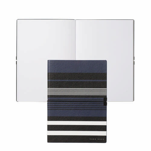 Hugo Boss Note Pad A5 Storyline Stripes Blue - (printed with 1 colour(s)) HNH908N_ORSO_DEC