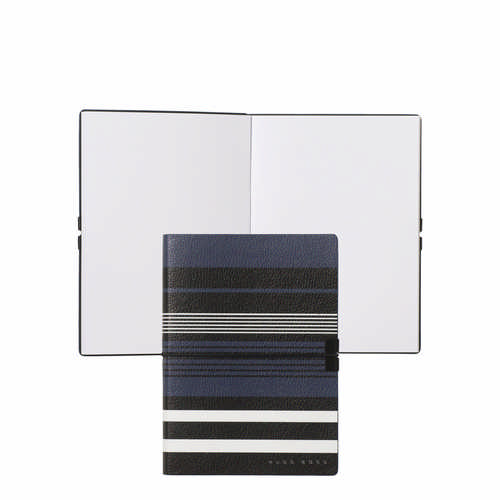 Hugo Boss Note Pad A6 Storyline Stripes Blue - (printed with 1 colour(s)) HNM908N_ORSO_DEC