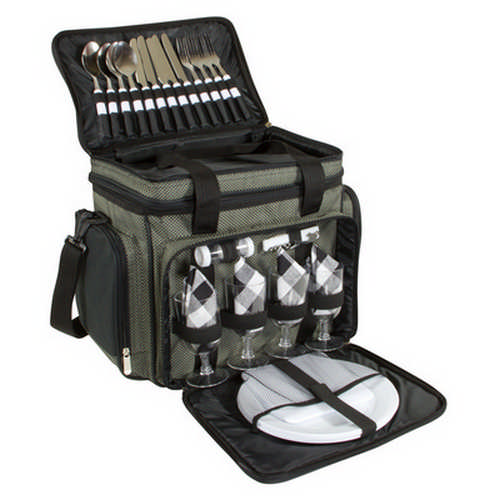 4 Person Picnic Bag With Cooler - (printed with 1 colour(s)) G1417_ORSO_DEC