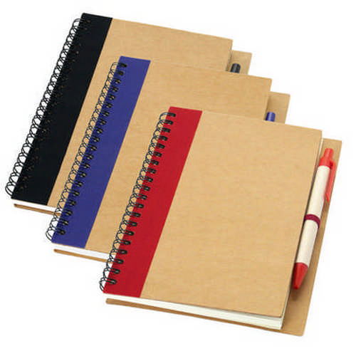 A5 Recycled Notebook - (printed with 1 colour(s)) G1509_ORSO_DEC