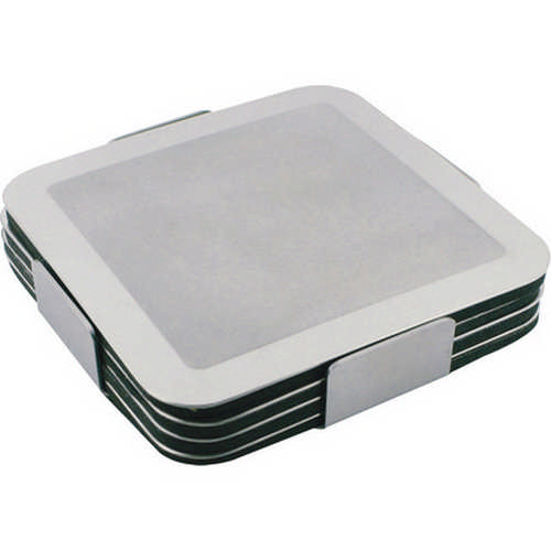 Prestige Stainless Steel Coaster Set - (printed with 4 colour(s)) G725_ORSO_DEC