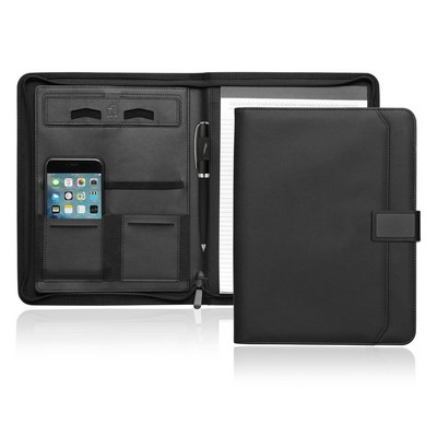 A4 Tech Folio w/Zipper and Magnetic Closure - (printed with 1 colour(s)) C499_GL_DEC