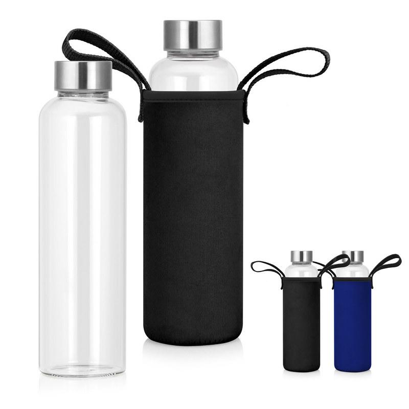 Bottle Glass Neoprene Sleeve 600ml - (printed with 1 colour(s)) M269_GL_DEC
