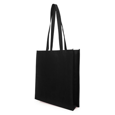 Non Woven Bag - w/gusset - (printed with 1 colour(s)) NWB05-BK_GL_DEC