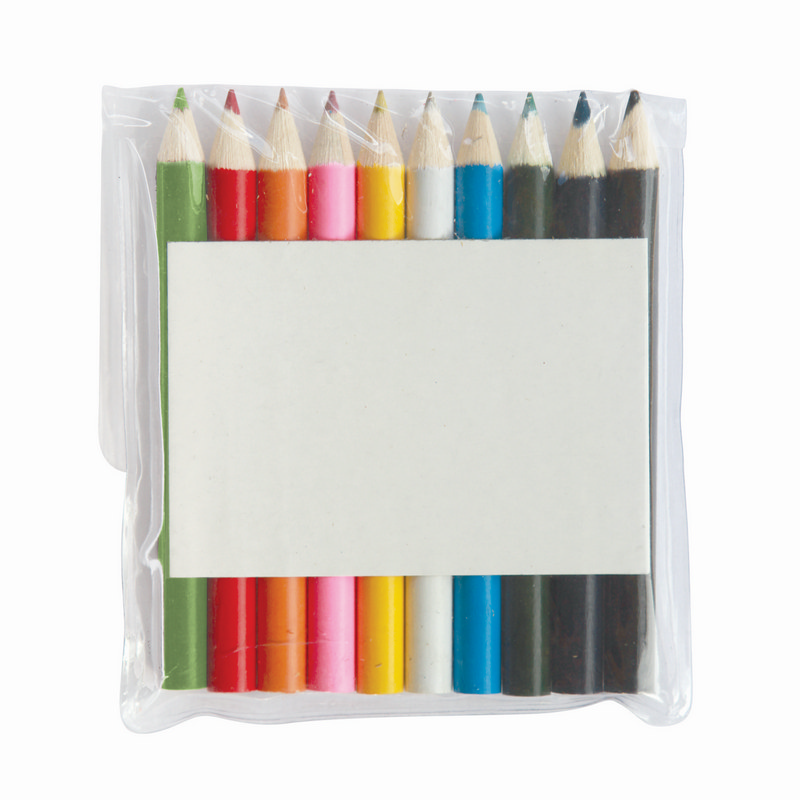 Half Pencils Colouring 10 Pack Pouch - (printed with 1 colour(s)) Z603-10_GL_DEC