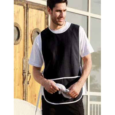 Polyester Drill Popover Apron - With Pocket WA0676_BOC