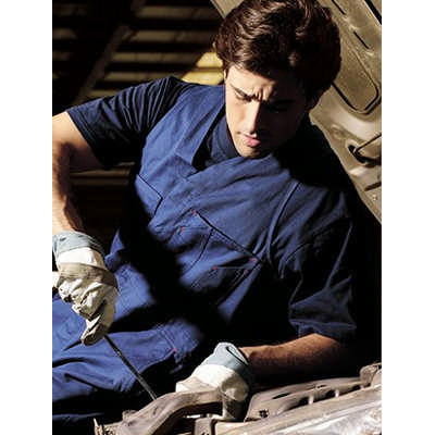 Unisex Adults Cotton Drill Action Back Overall WO0681_BOC