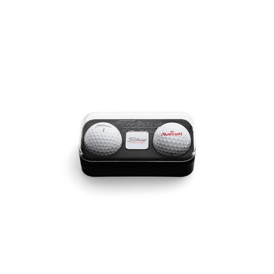 Standard 2-ball Capsule With Marker - Titleist Tour Soft - (printed with 1 colour(s)) 2BTUNXT_PPI