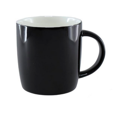 Ariston New Bone Barrel Mug - Black  White - (printed with 1 colour(s)) NB1384502_PPI