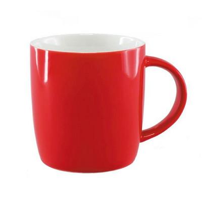 Ariston New Bone Barrel Mug - Red  White - (printed with 1 colour(s)) NB1384402_PPI