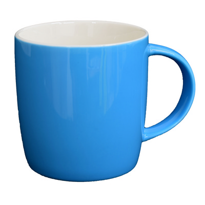 Ariston New Bone Barrel Mug - Cyan  White - (printed with 1 colour(s)) NB1384181_PPI