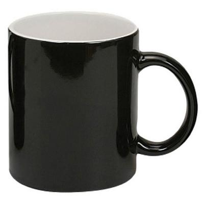 Can Mug Two-tone Gloss Black  White - (printed with 1 colour(s)) MUGSCANX201_PPI
