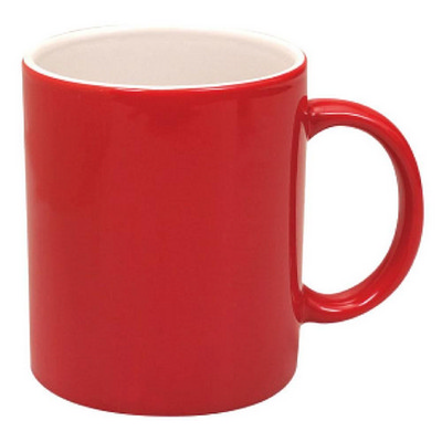 Can Mug Two Tone Gloss Red  White - (printed with 1 colour(s)) MUGSCANX401_PPI