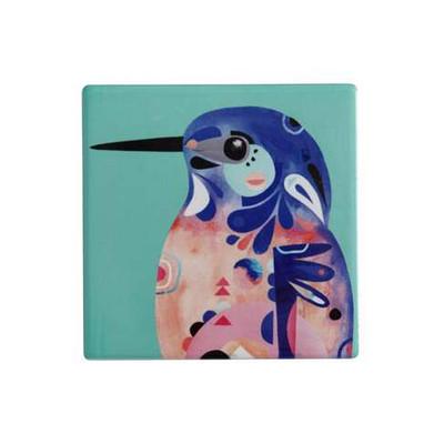 M&W Pete Cromer Ceramic Square Tile Coaster 9.5cm Az Kingfis DU0083_PPI