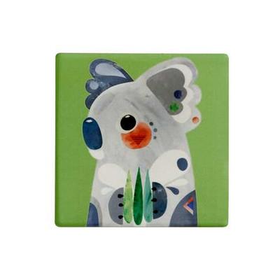 M&W Pete Cromer Ceramic Square Tile Coaster 9.5cm Koala DU0084_PPI