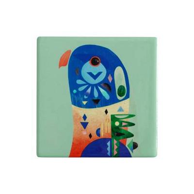 M&W Pete Cromer Ceramic Square Tile Coaster 9.5cm Lorikeet DU0086_PPI