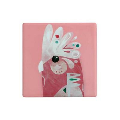 M&W Pete Cromer Ceramic Square Tile Coaster 9.5cm Galah DU0087_PPI