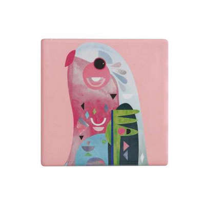 M&W Pete Cromer Ceramic Square Tile Coaster 9.5cm Parrot DU0088_PPI