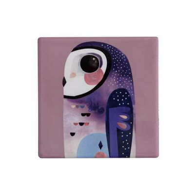 M&W Pete Cromer Ceramic Square Tile Coaster 9.5cm Owl DU0089_PPI