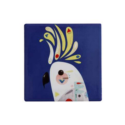 M&W Pete Cromer Ceramic Square Tile Coaster 9.5cm Cockatoo DU0091_PPI