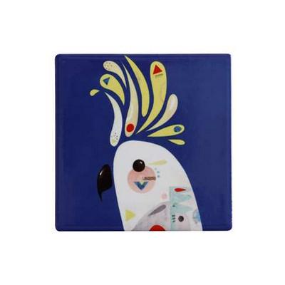 Maxwell & Williams Pete Cromer Ceramic Square Tile Coaster 9.5cm Cockatoo DU0091_PPI