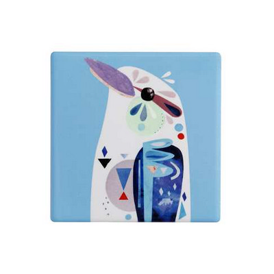 Maxwell & Williams Pete Cromer Ceramic Square Tile Coaster 9.5cm Kookaburra DU0093_PPI