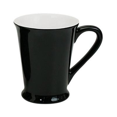 Florence Mug Gloss Black  White - (printed with 1 colour(s)) MUGSFLOR201_PPI