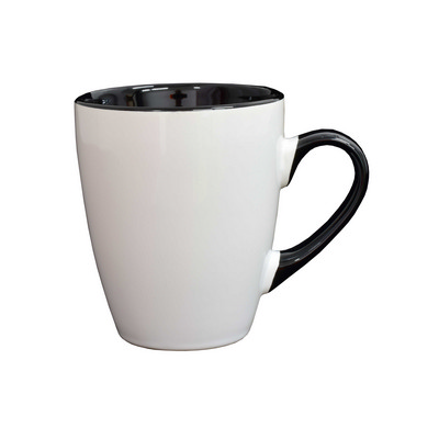 Madrid Mug White  Black - (printed with 1 colour(s)) MUGSMADR102_PPI
