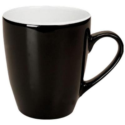 Madrid Mug Gloss Black  White - (printed with 1 colour(s)) MUGSMADR201_PPI