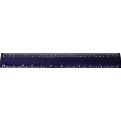 Ruler 30cm Navy - (printed with 1 colour(s)) RULE30CM007_PPI