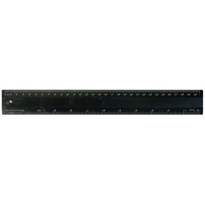 Ruler 30cm Recycled Black - (printed with 1 colour(s)) RULE30CM035_PPI