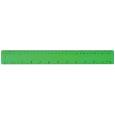 Ruler 30cm Fluro Green - (printed with 1 colour(s)) RULE30CM012_PPI