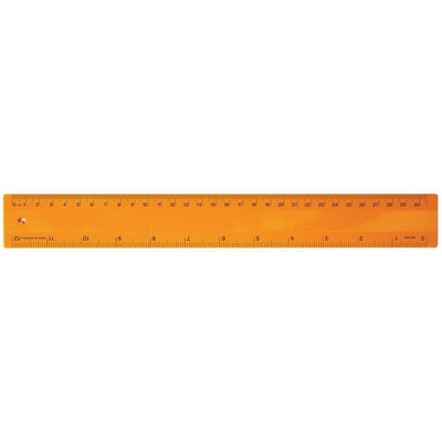 Ruler 30cm Fluro Orange - (printed with 1 colour(s)) RULE30CM011_PPI