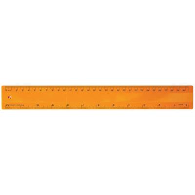 Ruler 30cm Fluro Orange - (printed with 1 colour(s)) RULE30CM011_PPI