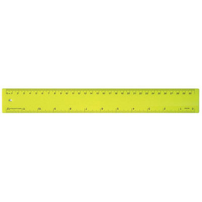 Ruler 30cm Fluro Yellow - (printed with 1 colour(s)) RULE30CM009_PPI