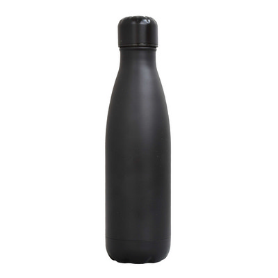 Sierra Stainless Steel Drink Bottle - Black - (printed with 1 colour(s)) SRB03_PPI