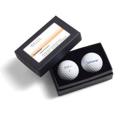 Titleist 2-ball Business Card Box - Titleist Velocity - (printed with 1 colour(s)) 2BBCVEL_PPI