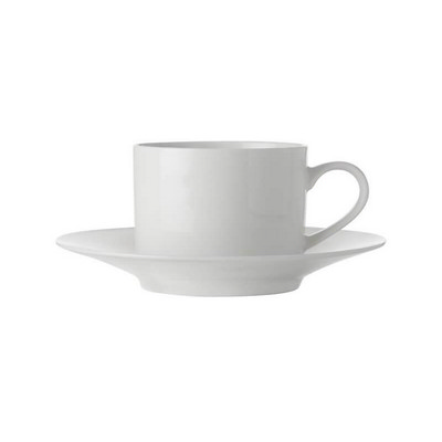 Maxwell & Williams White Basics Straight Cup & Saucer 250ml - (printed with 1 colour(s)) FX0135_PPI